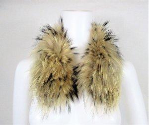 Hooded Scarf multicolored fur