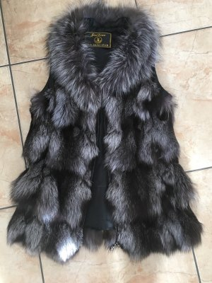Fur vest light grey-grey pelt