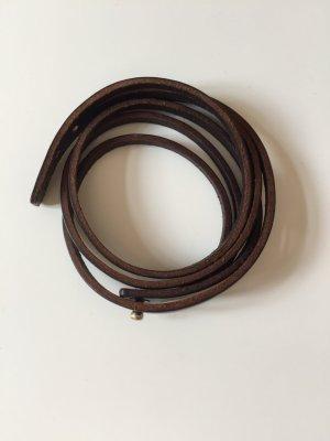 Echtleder Armband in dunkelbraun von H&M