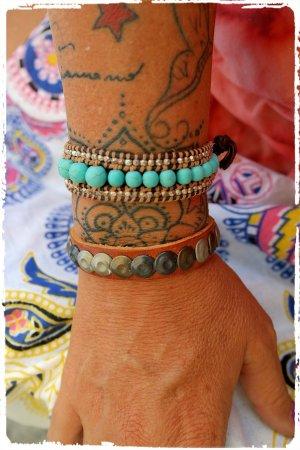 Echtleder Armband mit Nieten aus ibiza