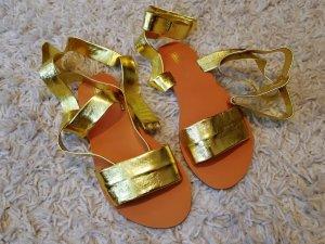 Asos Sandalo romano oro-marrone Pelle