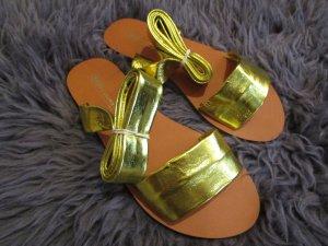 Echtleder Asos Gladiatoren Sandalen Gold 38