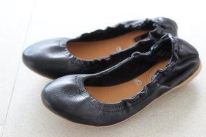Echtleder Ballerinas in schwarz