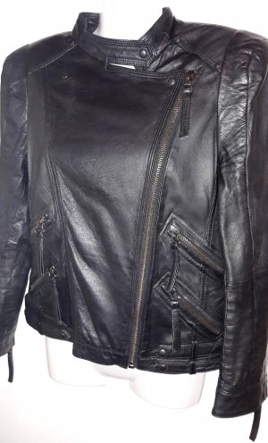 Zara Woman Leather Jacket black leather