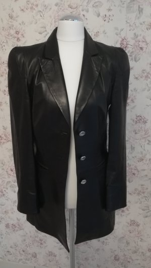 Leather Blazer black
