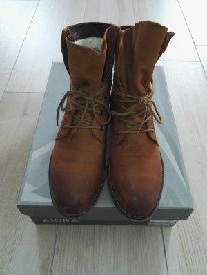 Echtleder Booties / Schnürboots / Schnürstiefeletten / Stiefeletten / Boots / Gr. 39