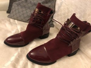 0039 Italy Chelsea Boots bordeaux leather