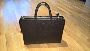 Echtleder Business-Tasche in schwarz
