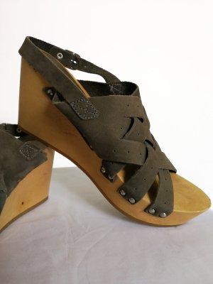 Echtleder Clogs Sandaletten Sandalen von Esprit (Gr. 38)