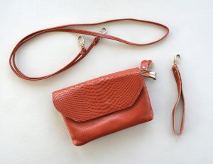 Mini Bag dark orange leather