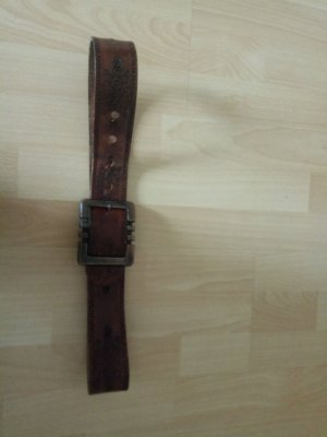 Leather Belt bronze-colored