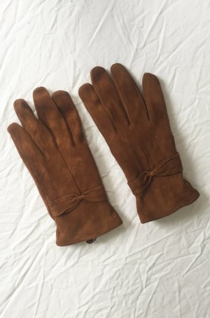 Mango Leather Gloves multicolored leather