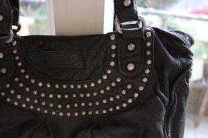 Echtleder-Handtasche mit Nieten