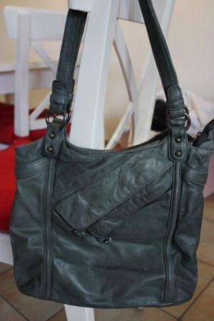 Echtleder-Handtasche, neu
