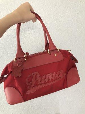 Echtleder Handtasche Puma rot NEU!