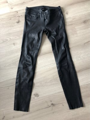 True Religion Leather Trousers black leather
