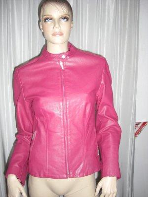 Echtleder Jacke   Gr 38  Extravagantes Design  Brombeerfarben