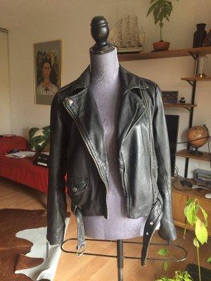 Echtleder Jacke Lederjacke in schwarz Größe 36