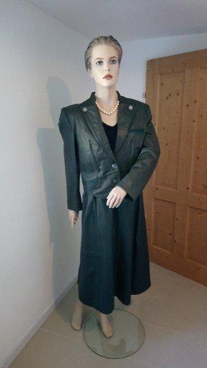 Alphorn Leather Jacket green grey