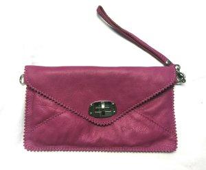 Echtleder Kuverttasche Clutch in außergewöhnlicher Farbe von Vera Pelle