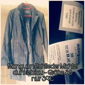 Echtleder Mantel dunkelblau Manguun