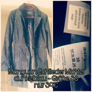 Manguun Long Jacket slate-gray-dark blue
