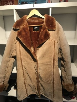 Gipsy Leather Coat camel-cognac-coloured
