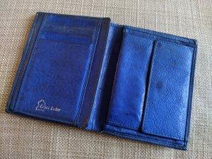 Vintage Portafogli blu-blu acciaio Pelle