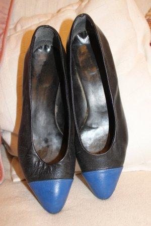 Echtleder-Pumps, Gr.39, mit Royal blue