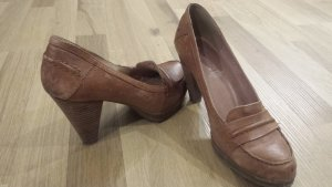 Echtleder Pumps im Used Look