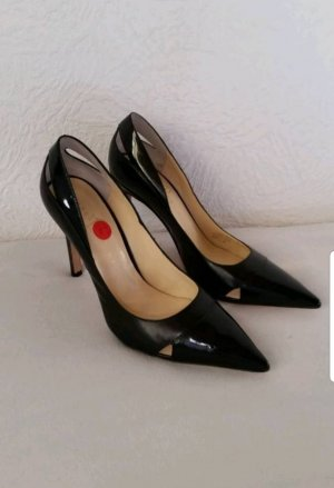 Echtleder Pumps mit Cut-Out Elementen