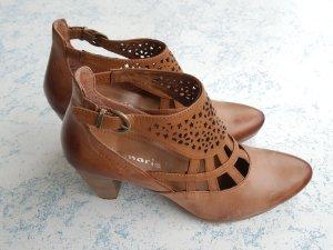 Tamaris Tacones de plataforma marrón-coñac