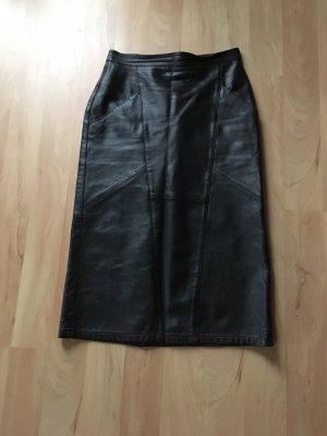 Naketano Jupe en cuir noir cuir