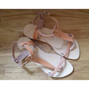 Sandalo toe-post beige