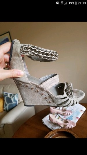 echtleder sandalen pumps gr. 37