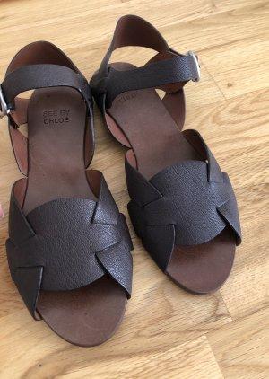 See by Chloé Sandalo con cinturino marrone scuro