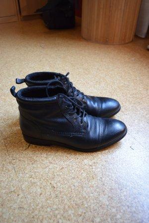 5th Avenue Botas de tobillo negro Cuero