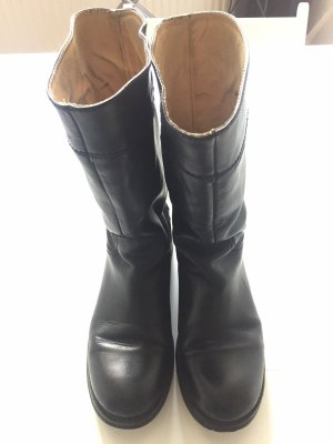 Echtleder schwarzen Stiefel, Gr. 38. passt auch Gr. 39.