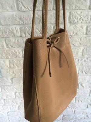 Echtleder Shopper Handtasche Henkeltasche hellbraun NEU weich