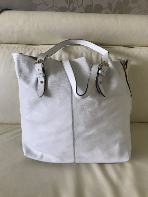 0039 Italy Shopper blanc cuir