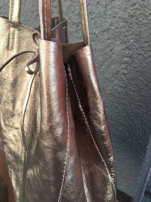 Vera Pelle Pouch Bag gold-colored leather