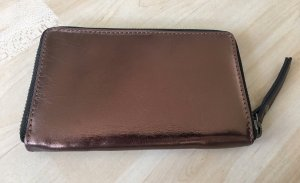 Echtleder Smartphone Börse braun-bronze metallic