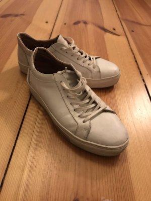 Echtleder-Sneakers weiß