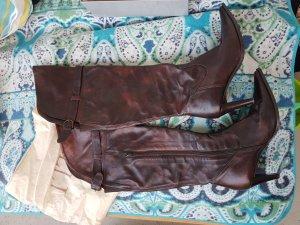 5th Avenue Stivale con tacco marrone scuro-marrone-nero