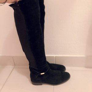 Bottes stretch noir-doré