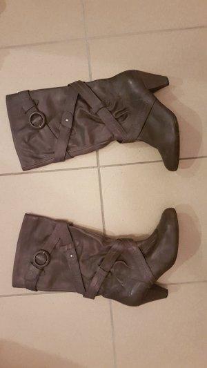 Venturini Laarzen met hak grijs-donkergrijs