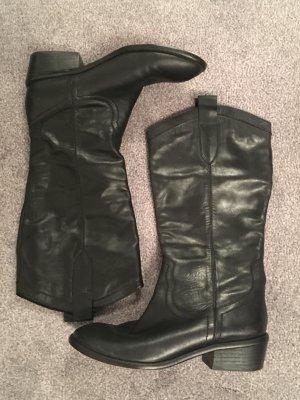 Echtleder-Stiefel Buffalo schwarz Gr. 38