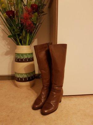 Laarzen met hak bruin-cognac