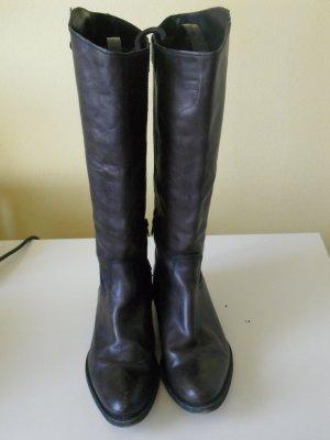 ECHTLEDER Stiefel Gr. 39 dunkelbraun top Zustand