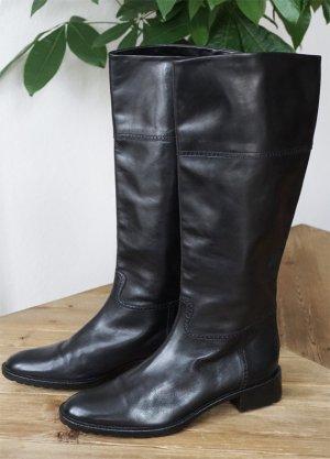 Echtleder Stiefel Italien schwarz made in Italy Boots elegant schick NEU 39.5